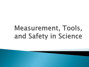 Tools, Measurement, and Safety in Science