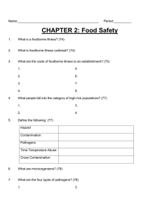 CHAPTER 2: Food Safety