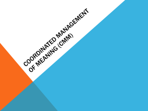 Coordinated Management of Meaning Presentation