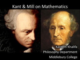 Kant & Mill on Mathematics