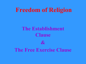Freedom of Religion - Mrs. Wharton's Wiki