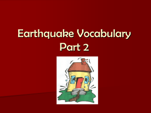 Earthquake Vocabulary Part 2