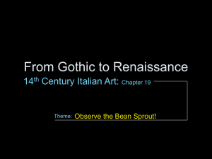 From Gothic to Renaissance