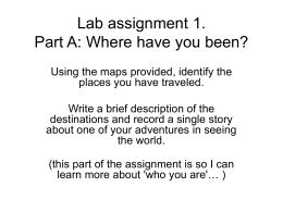 Lab assignment 1_maps