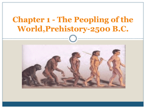 WAS 1 Ch 1 The Peopling of the World