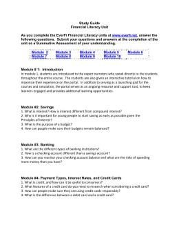 everfi module 4 answer key