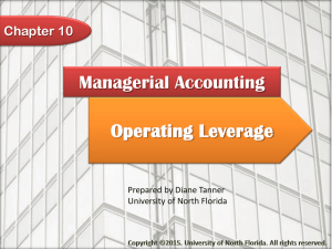 Chapter 10: Operating Leverage