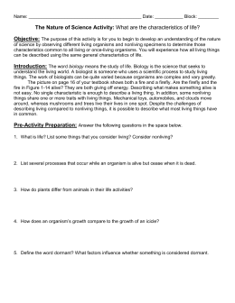 Worksheets Characteristics Of Life Worksheet characteristics of life reading with questions life