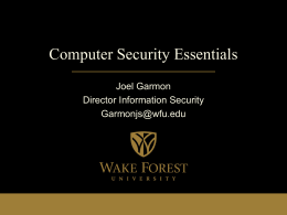 Computer Security Essentials