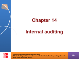 The practice of internal audit