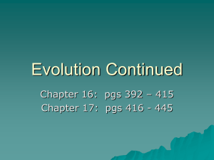 Evolution PowerPoint Chapt 16.