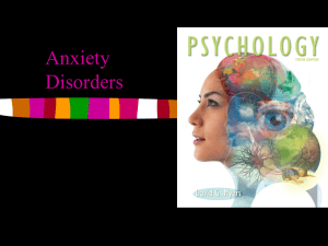 Psych 12 Anxiety Disorders