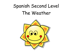 Spanish Second Level Weather