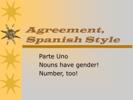 Agreement, Spanish Style