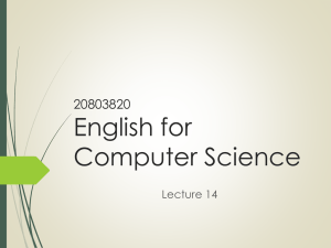 English for Compute Science