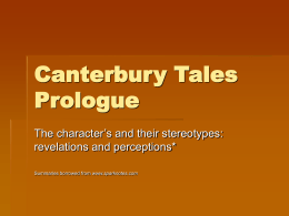 Canterbury Tales Prologue