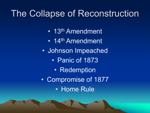 The Collapse of Reconstruction