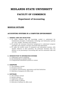 MIDLANDS STATE UNIVERSITY FACULTY OF COMMERCE