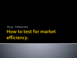 Market Efficiency Lecture II