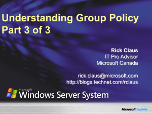 Understanding Group Policy Part 3