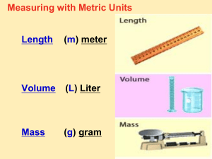 PPT Notes 4 - Metric Conv