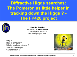 diffractive Higgs searches