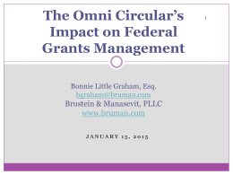 Omni Circular's Impact on Federal Grants Management