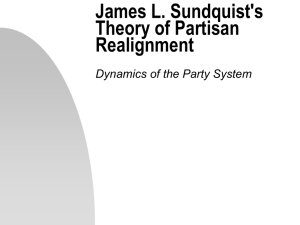 James Sundquist's Theory of Partisan Realignment