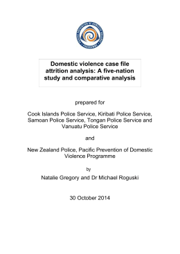 2012 Case file analysis - Pacific Prevention of Domestic Violence