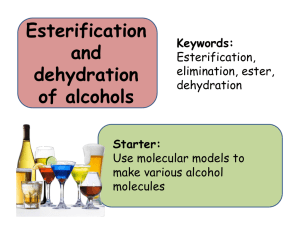 4. Esterification and dehydration of alcohols