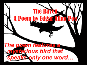 The poem features a mysterious bird that speaks only one word…