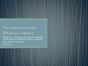 The Educationally Effective Library_post conference edition