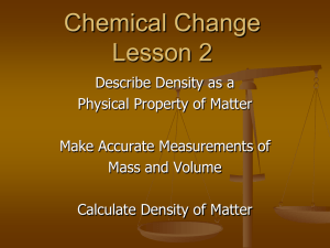 Lesson 2 ppt Chemical Change