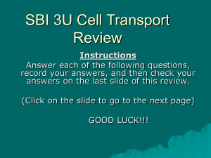 SBI 3U Cell Transport Review