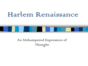 Harlem Renaissance - Jamestown School District