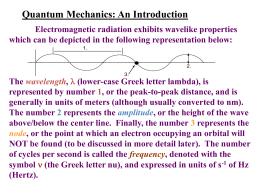 Chap. 7 - Quantum Chemistry