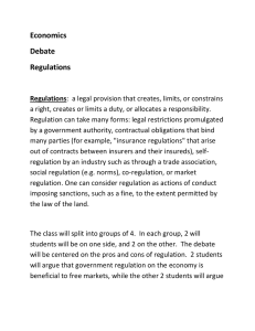 Regulations Debate