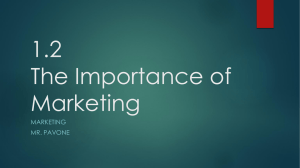 1.2 The Importance of Marketing