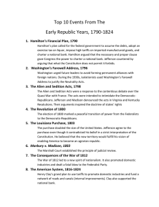 Top 10 Events From The Early Republic Years 1790-1824