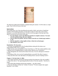 Founding Brothers Reading Guide