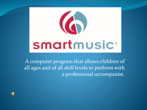 A Research Report Submitted to the Music Education Department