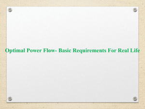 Optimal Power Flow- Basic Requirements For Real Life