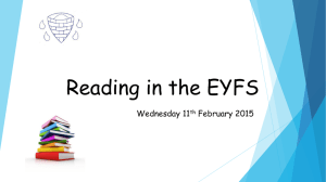 Reading in the EYFS - Winsford High Street Primary School