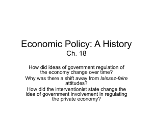Economic Policy: A History Ch. 18