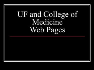 UF and College of Medicine - UF Health Information Technology
