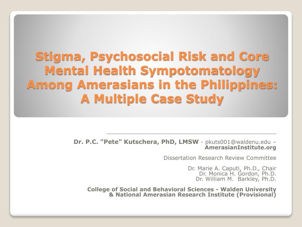 Stigma Psychosocial Risk And Core Mental Health