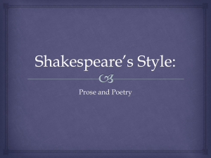 Shakespeare*s Style - our English 2DI class website!