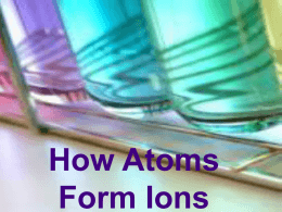 How Atoms Form Ions