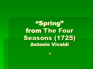 """Spring"" from The Four Seasons (1725) Antonio Vivaldi"