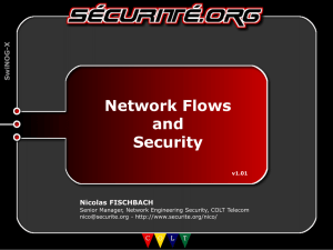 Netflow and Security Nicolas Fischbach, COLT TELECOM